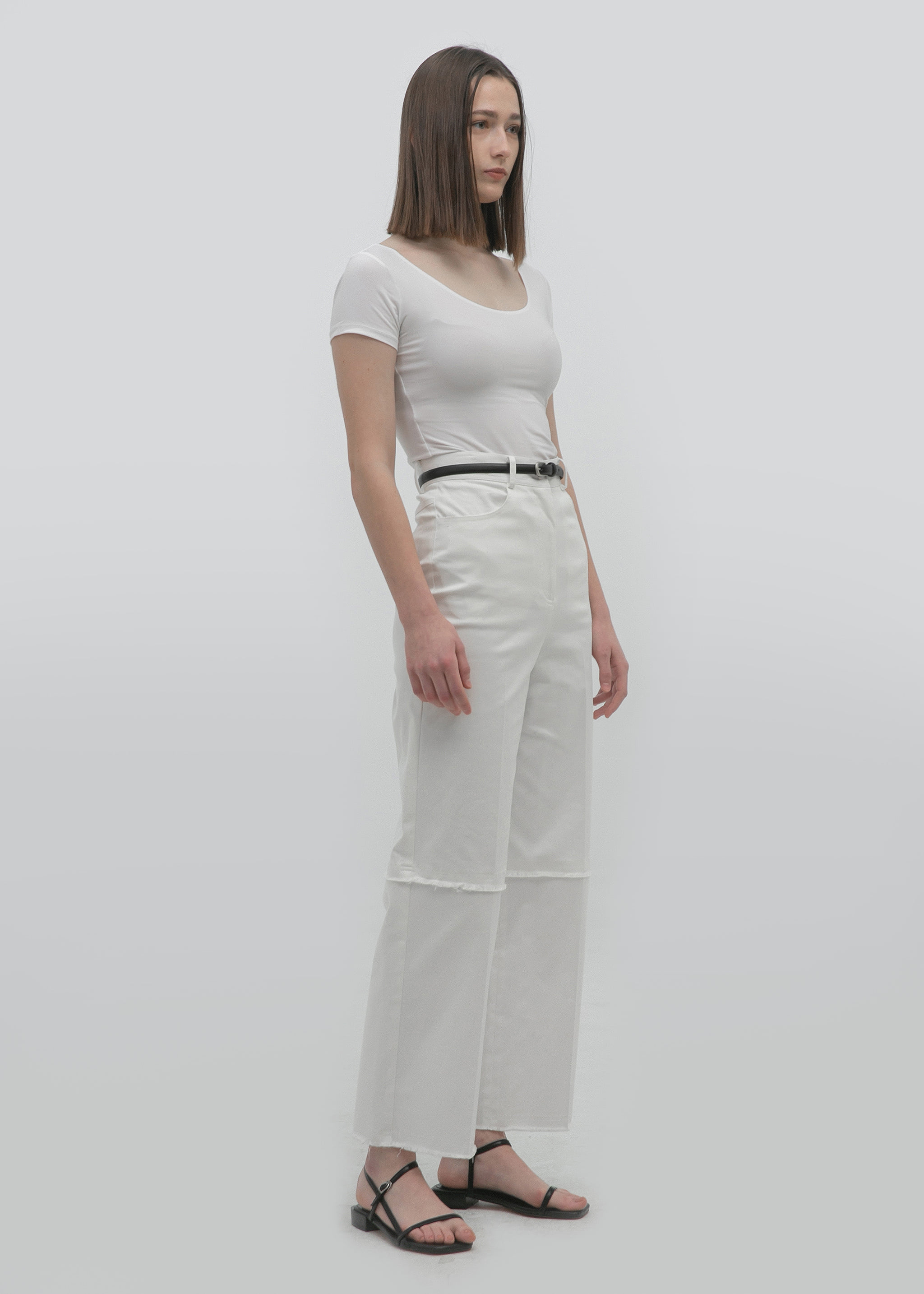 CLASSIC COTTON PANTS (CREAM)