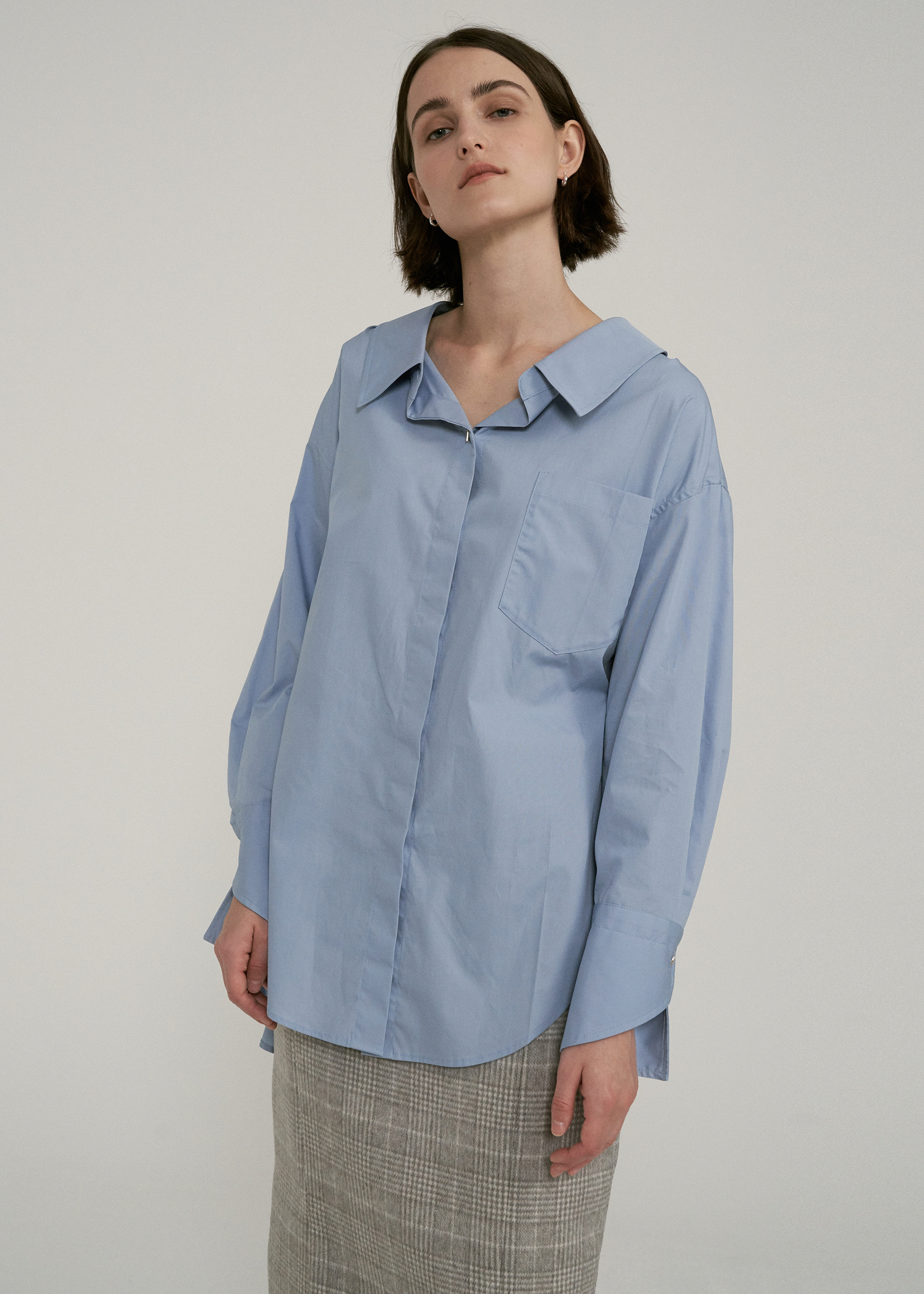 OVERSIZED BELT SHIRTS (BLUE)