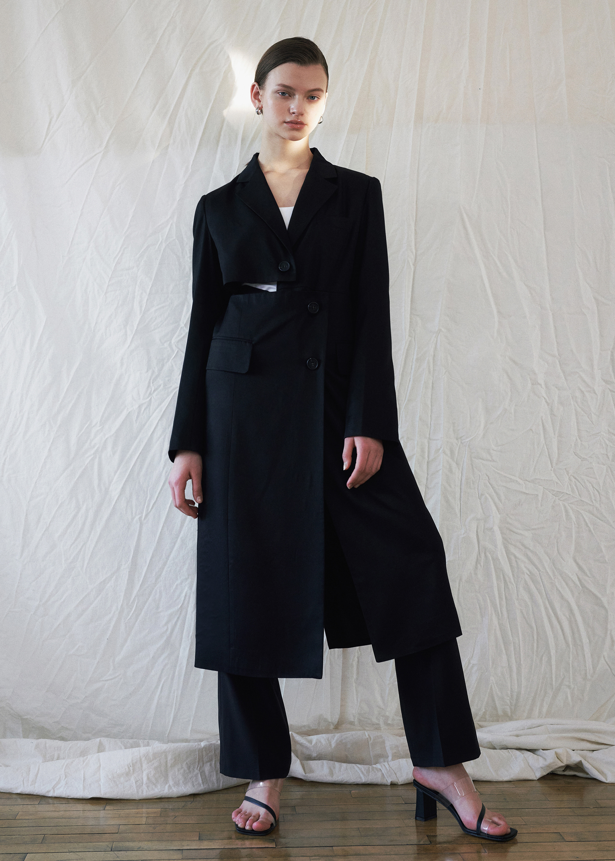 TWO-WAY LONG JACKET (BLACK)