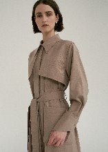 TRENCH WOOL ONE PIECE (BROWN)